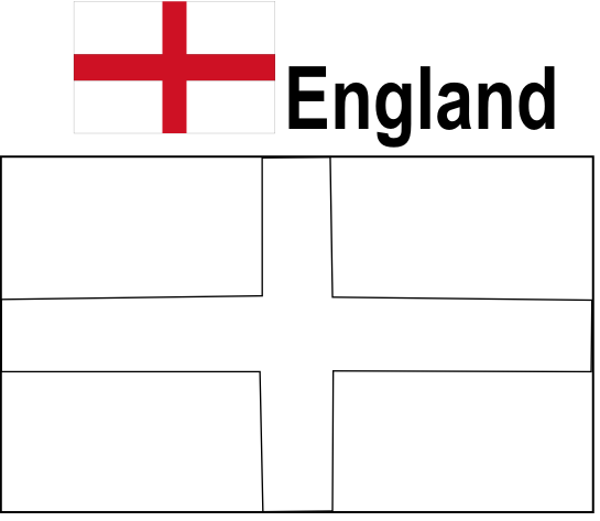 - England Flag Colouring Page
