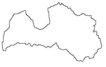 Blank Map Of Latvia Outline Map Of Latvia - Latvia map outline