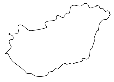 Blank Map Of Hungary Outline Map Of Hungary - Hungary blank map