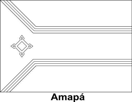 Bandeira Do Amapa Para Colorir