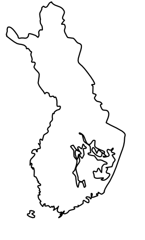 Blank Map of Finland, Outline Map of Finland