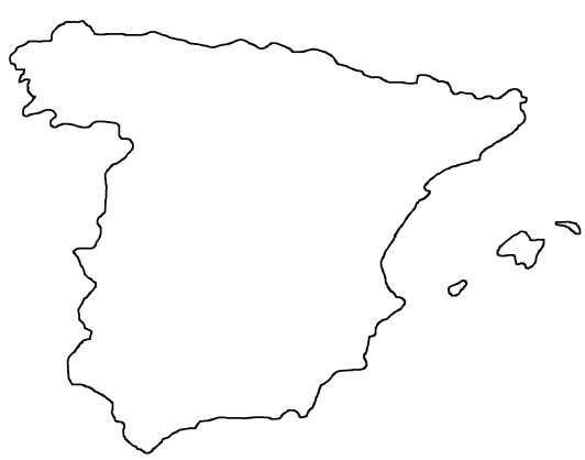 Map Of Spain For Classroom.Blank Map Of Spain Outline Map Of Spain