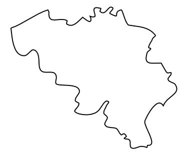 Blank Map of Belgium, Outline Map of Belgium