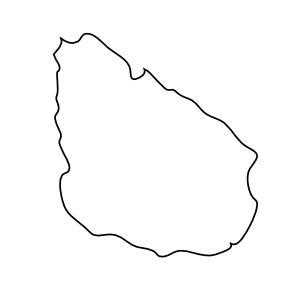 Mapa Do Uruguai Para Colorir
