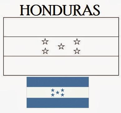 Bandeira Das Honduras Para Colorir