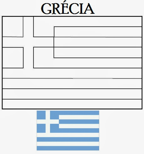 Bandeira Da Grecia Para Colorir