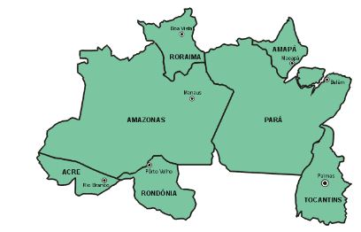 mapa do norte Mapa   Região Norte   Brasil mapa do norte